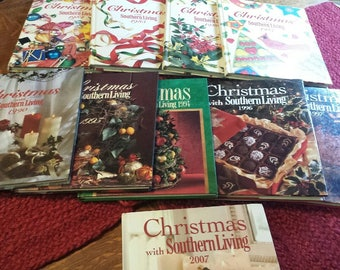 Christmas with Southern Living Hardbound books, very good condition, buy one or all. All clean, no tears or writing.