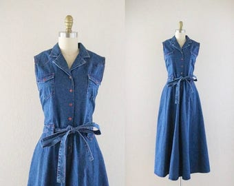 ON SALE cheyenne denim shirt dress
