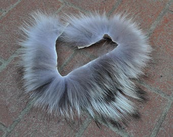 Real Beautiful Strip of Timber Wolf Fur - 15 inches