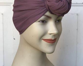 Multi Use Handkerchief Scarf - Mauve Georgette