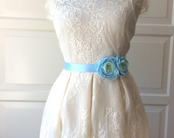 Romantic  Bridal Chiffon  Belt Flower Sash for Wedding