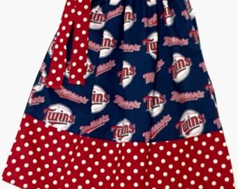 Custom Boutique handmade Minnesota Twins Pillowcase Dress