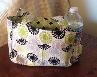 Small Reversible Tote Bag- Lime Green