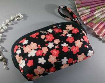 Black & orange make up pouch - Mailine