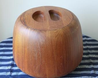 Vintage Dansk Teak Ice Bucket Jens Quistgaard, Denmark, Danish Modern, Scandinavian Collectible