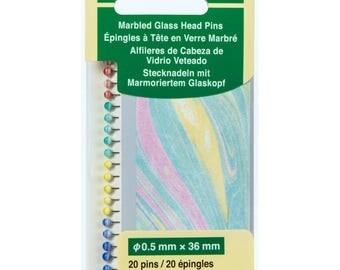 Clover Marbled Glass Head Pins Part No. 2511