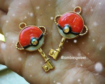Kawaii Poke Planet Pokeball Inspired Pandant Necklace