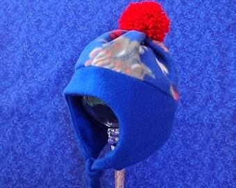 Blue Fleece Toddler Hat Baby Boy