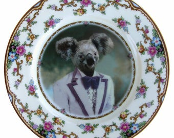 Kevin the Koala Portrait Plate 6.25""
