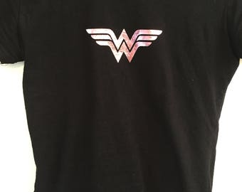 Wonder Woman Metallic Vinyl T-Shirt
