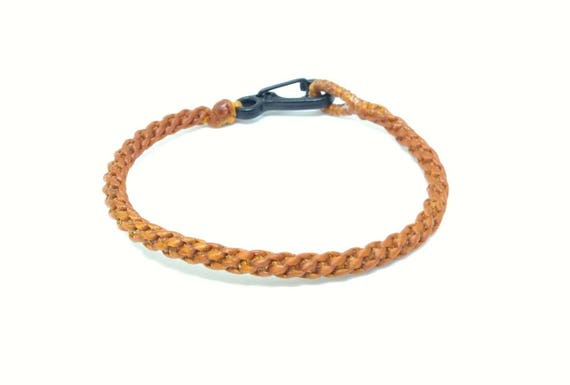 Classic Fair Trade Light Brown Cotton Handcrafted Thai Buddhist Wristband Bracelet Wristwear
