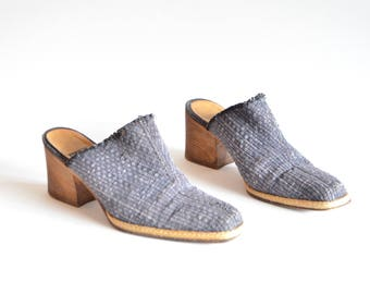Vintage 1990s MARE made in Italy woven leather mules / 7
