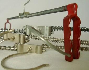 Tension Rod Pants Hangers, 4 Vintage West Germany MAWA Hofit