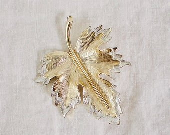 Silver and Gold Leaf Brooch