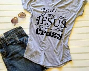 Ladies Tshirt, Womens Tshirt, Christian Tshirt, V-neck shirt, Funny tshirt, Gift for her, Gift for Mom, Custom tshirt