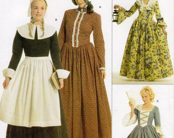 SZ 6/8/10/12 - Simplicity Costume Pattern 3723 by ANDREA SCHEWE - Misses' Pilgrim, 18th Century and Colonial Costumes - Simplicity Patterns