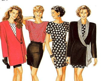 On Sale New Look Separates Pattern 6975 - Misses' Jacket, Dress or Top and Skirt - Sz 8 thru 18