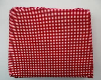 Ralph Lauren red plaid cotton full fitted sheet - red and white