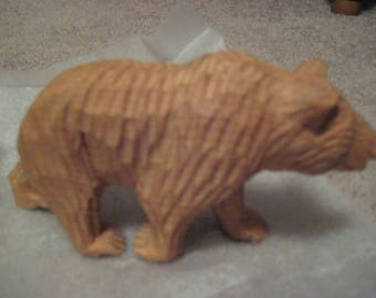 Appalachian folk art carved bear-sale