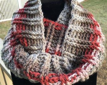 Ribbed Style Infinity Scarf