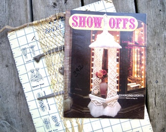 Knotted Swag Lamps and Hanging Shelves Macrame Lamp Pattern Book