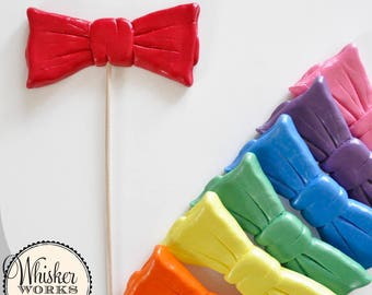 Bowtie on a Stick - Plastic Photo Booth Prop - Choose Your Color