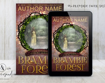 """Premade Digital eBook Book Cover Design """"Bramble Forest"""" Fairy Tale Romance Traditional Fantasy YA Young Adult Fiction"""