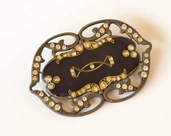 Art Deco Brooch, Vintage Catherine Popesco, French Handmade Jewelry