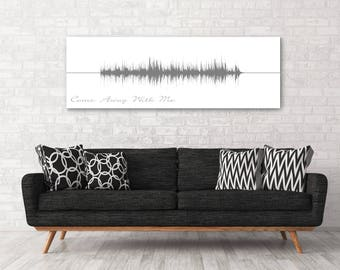 Come Away With Me, Sound Wave print, Custom Sound Wave Art, Personalized Waveform