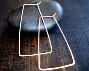Geometric Hoop Earrings - Gold