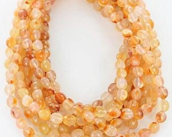 20% Off Sale : ) ORANGE CARNELIAN Egg Beads 10x8mm