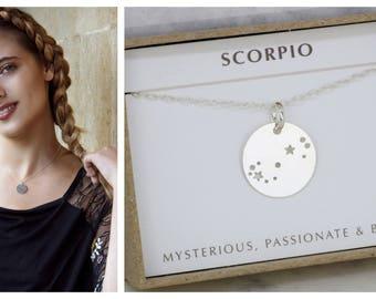 Constellation necklace Scorpio, zodiac necklace, Scorpio necklace, birthday gift for Scorpio, starsign necklace  - Lyra