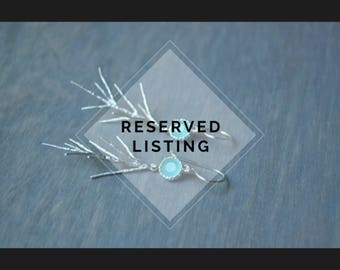 Reserved Listing -  Silver Branch Earrings