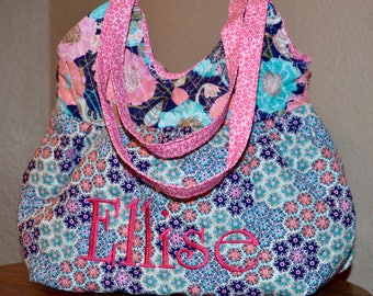 Little Girls Purse ~ Quilted & Lined ~ Personalization Option ~ Vibrant Floral