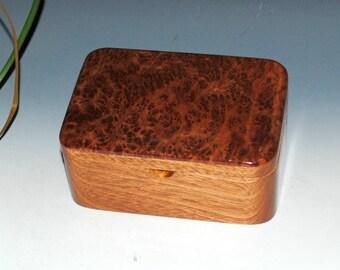 Redwood  Burl on Mahogany Small Wooden Box With a Lift Out Tray, Desk Box, Gift Box, Stash Box, Keepsake Box,Burl Wood Box by BurlWoodBox