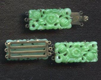 Vintage Deco Clasp and Matching Connectors
