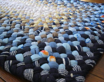 Made To order Handmade Rectangular Braided Rug in your choice of colors