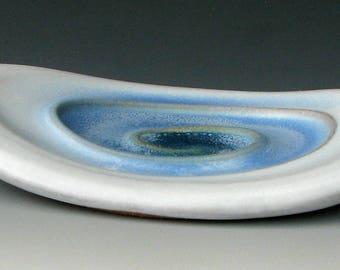 CERAMIC SOAP DISH #16 - Stoneware Soap Dish - Blue Soap Dish - Ceramic Soap Holder - Soap Dish - Soap Plate - Bar Soap Dish - Bathtub