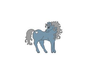 Plastic Canvas Mystical Pony Wall Hanging PDF FORMAT Instant Download