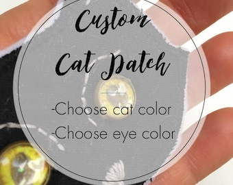 CUSTOM Cat Embroidery Patch