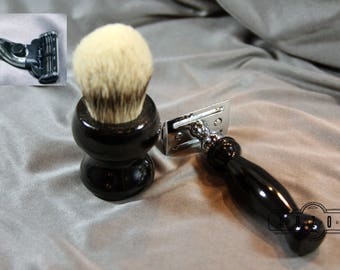 African Blackwood Super Silvertip Badger Hair Brush Wet Shaving Father's Day Gift Shaving Kit Gift Anniversary Graduation