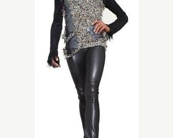 Leather (Vegan)  Leggings- To die for Fashion Leggings