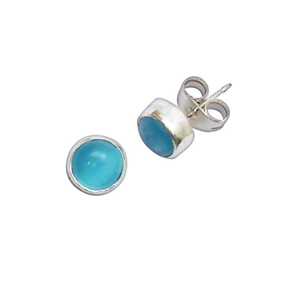 Gauzy Blue Topaz and Sterling Silver Post Earrings  etpzb2948