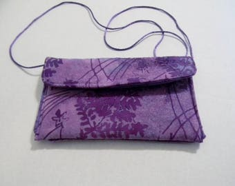 Lavender Fern Batik Hip Bag