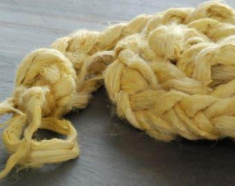 DANDELION -HEMP Fiber ~Colour by nature~  fiber plant dyed - perfect for vegan needle felting