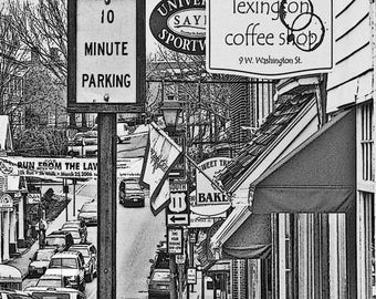 Lexington Virginia - West Washington Street - Fine Art Photography print by Dave Lynch - Free Shipping on any additional items