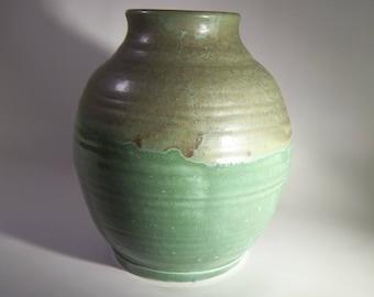 Wheel thrown stoneware flower vase
