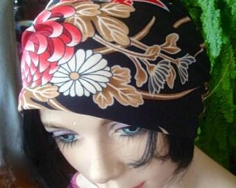 womens Headband  Wide Headband chinese print  lycra  Comfortable Yoga turband