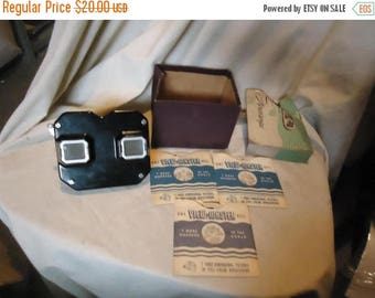 Back Open Sale Vintage Sawyer's View-Master Stereo Viewer Toy w Box & 3 Carlsbad Caverns Reels, collectable