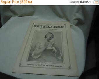 Ephemera & Books 50% Sale Vintage 1927 Perry's Musical Magazine Sheet Music, June, no 3, collectable